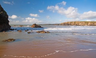 Plage d'Annestown, Waterford, Irlande