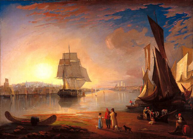 The Port of Halifax (1830 - 1840 ) Unknown Canadian painter