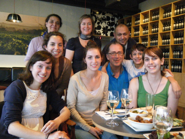 Aude, Corine, Gerard, Charline, Anne and friend, Bernard, Sean and Valenine