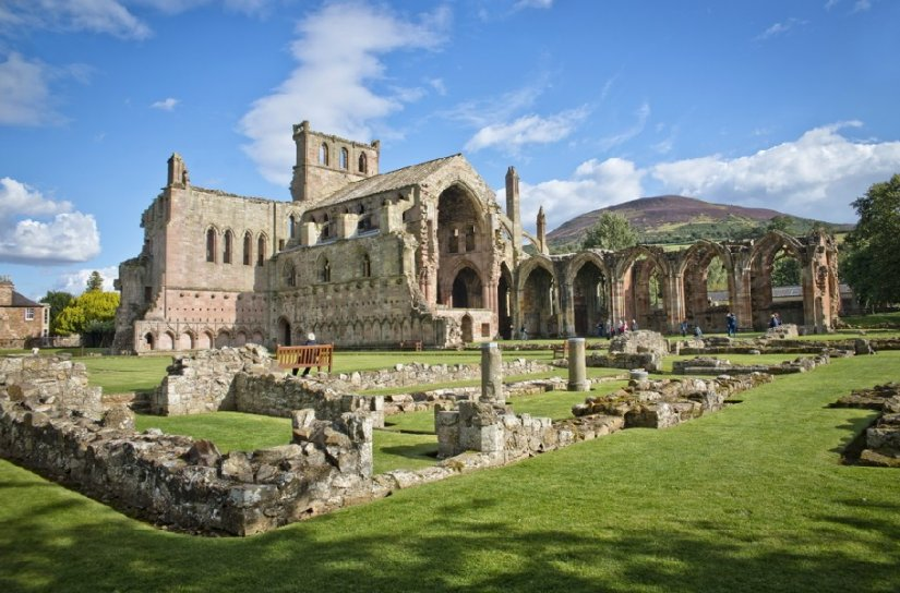 Melrose Abbey, Ecosse