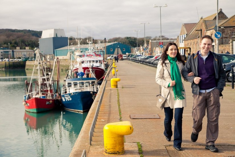 Couple sur le Port de Howth