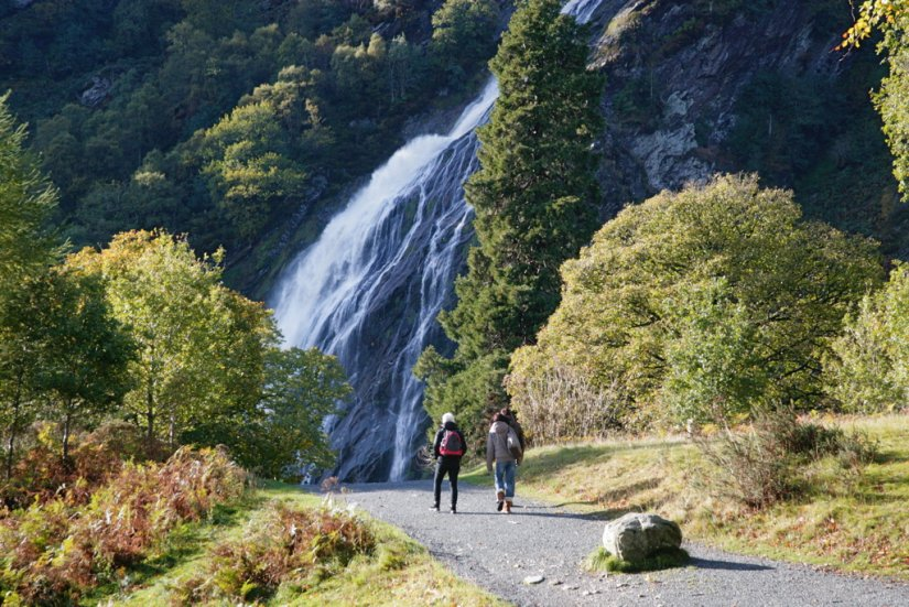 Cascade de Powerscourt, Wicklow, Irlande