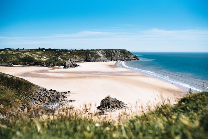 Three Cliffs Bay, Pays de Galles, Paysage