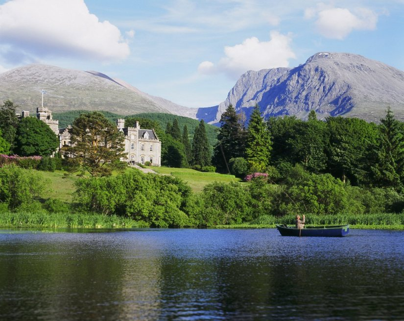 Paysage de Fort William, Chateau de Inverlochy, Ecosse
